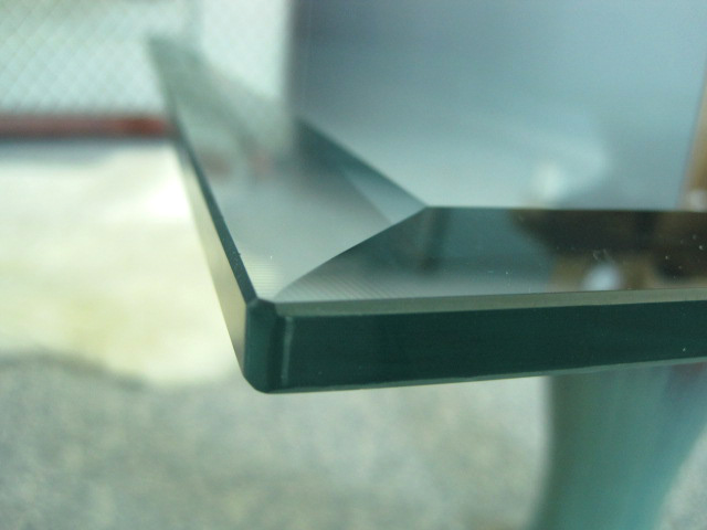 Glass Table Top Edges Pencil Seamed Flat Amp Bevel